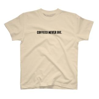 """SHOP : ユディーの""""コーヒーは死なせない""""A T-shirts"""
