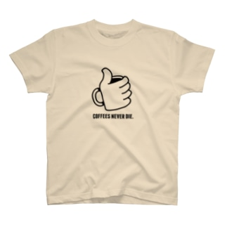 """SHOP : ユディーの""""コーヒーは死なせない""""C T-shirts"""