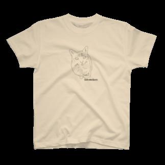 Wakameleonの猫のももちゃん T-shirts
