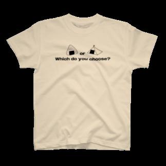 つりてらこグッズ(釣り好き&おもしろ系)のおにぎりとテントのTシャツ T-shirts