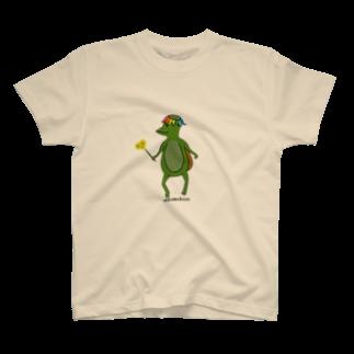 Wakameleonのわかガッパっぱ たんぽぽ摘みました T-shirts