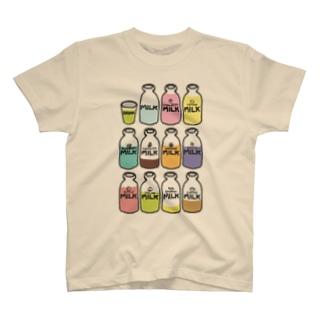 らくがきシリーズ『イロイロみるく』カラフル T-shirts