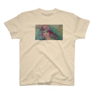 T.Mioの箱のgirl チューリップ T-shirts