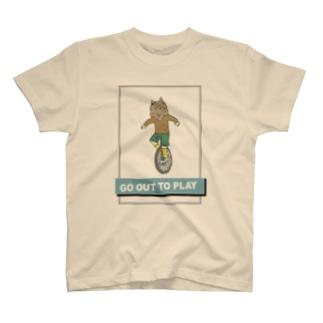 one 一匹狼一輪車 T-shirts