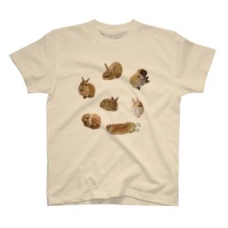 『卯のえほん』   〜えほんカフェ「うさぎの絵本」のオンラインショップ〜のみんな T-shirts
