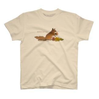 《前面プリント》Tシャツ_アカネズミ T-Shirt
