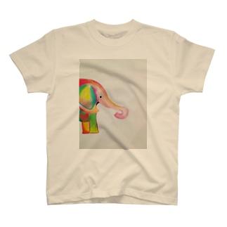 カラフルなゾウさんグッズ T-shirts