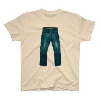 ジーンズのTシャツ(ノーダメージ) T-shirts