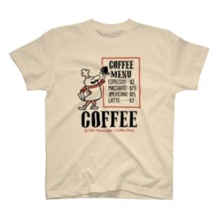 ビーンズマンのCOFFEE SHOP T-shirts