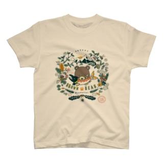 (薄色用)捕食クマ 顔アップバージョン T-shirts