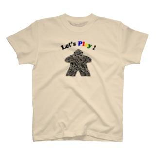 ボードゲームで遊ぼう!(黒) T-shirts