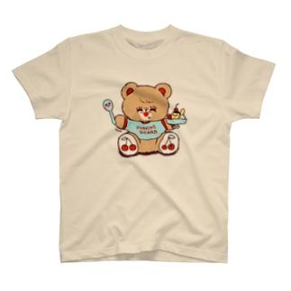 プリン大好きくま T-shirts