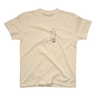 キラリちゃんと鳥 T-shirts