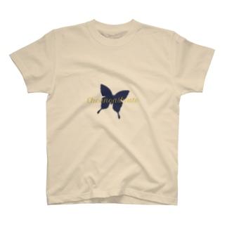 蝶のあしあとノベルティ T-shirts