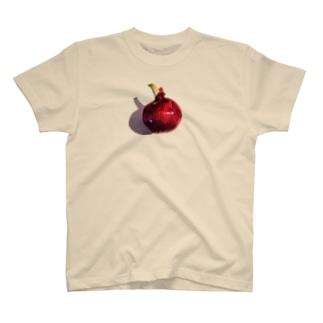 ミナニカの芽が出た紫タマネギ T-shirts