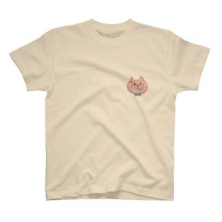 OKAYAのねこ(ピンクにこ) T-shirts