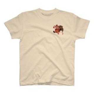 鵺 胸プリント T-shirts