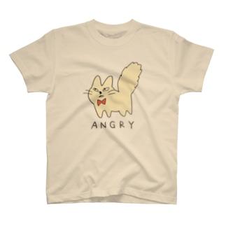 まぬけなねこ 怒 T-shirts