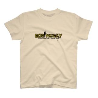 デザイン①Boring Day 『イエロー』 T-shirts