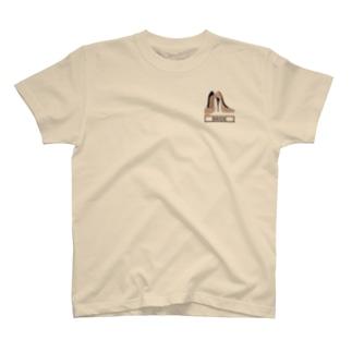 ペア(BRIDE)ヒール_ベージュ T-Shirt
