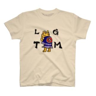 ザギン法被トラ猫 Tシャツ