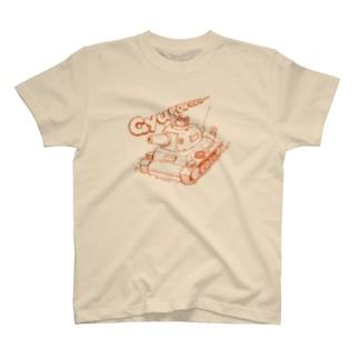 ネコ戦車-赤 T-shirts
