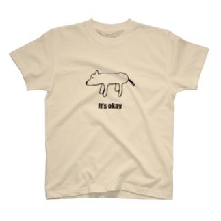 シロクマに見える犬「It's okay」 T-shirts