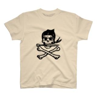 Ninja skull 黒 T-shirts