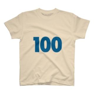 100歳のふしめ (Blue) T-shirts