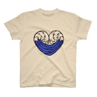 ウェイブ・ハート T-shirts