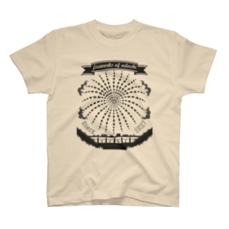 足立の花火(濃いグレーV)足立区大好き! T-shirts