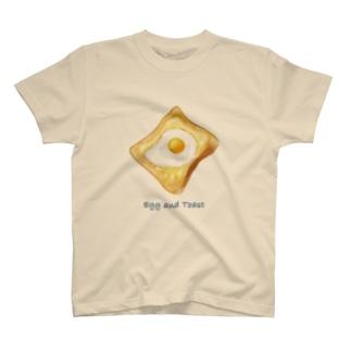 目玉焼き&トースト Tシャツ T-shirts
