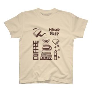 ハンドドリップ・ドット絵 T-shirts