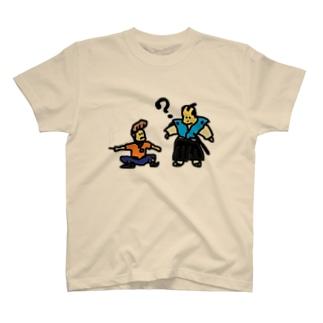 タイムトラベル お侍とヤンキー T-shirts
