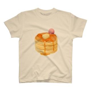 ホットケーキ食べよう T-shirts