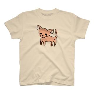 ゆるチワワ(オレンジ) T-shirts