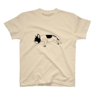 よく寝るフレンチブルドッグ T-shirts