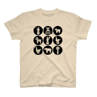はにわのうたげ黒 T-shirts