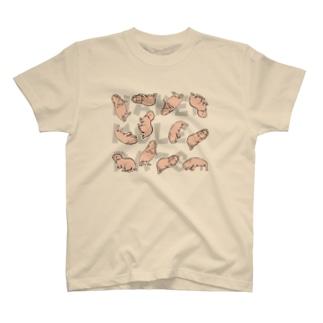 散らばるハダカデバネズミ T-shirts