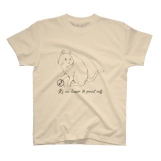 名言シリーズ イラストT(猫 グレー) T-shirts