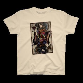 Sabbatic RomanceのQueen Of Black Heart T-shirts