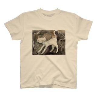 ぷぐんの白猫 T-shirts