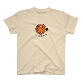 やさしいカフェラッテ T-shirts