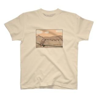 茶カラス チャッピー「たそがれ」 T-shirts