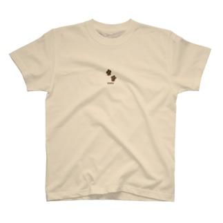足跡にゃにゃ茶 T-shirts