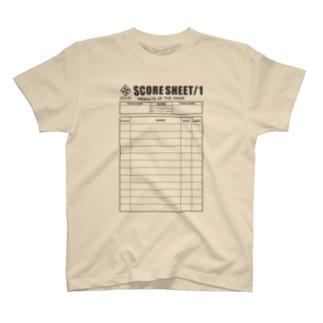 スコアシートT-shirts T-shirts