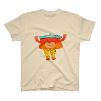 虎柄レギンスの鬼 T-shirts