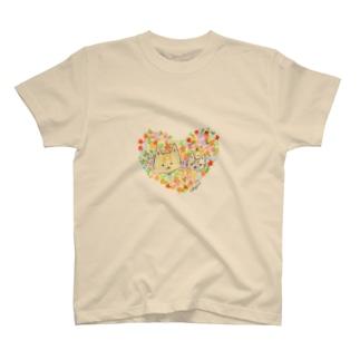 おちびとチャトニャン(ハート) T-shirts