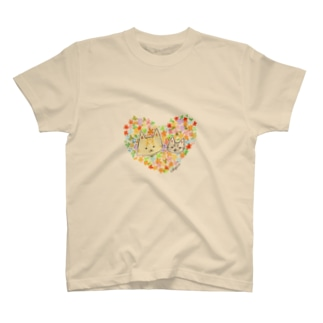Rosemary*Teaのおちびとチャトニャン(ハート) T-shirts