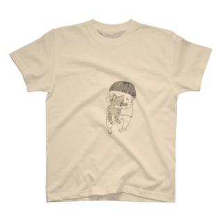 ネコを吸うかりあげさん T-shirts